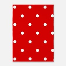 'Cherry Red' 5'x7'Area Rug