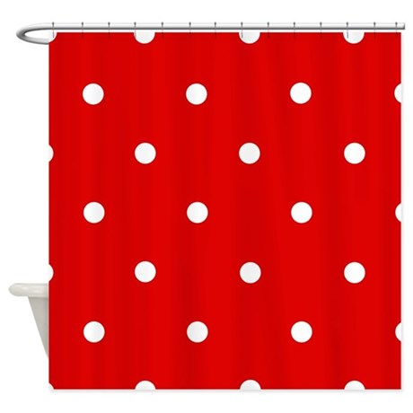 39 cherry red 39 shower curtain by applepip3