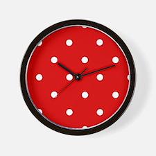 'Cherry Red' Wall Clock