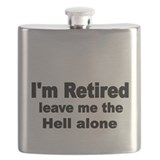 Retirement gag Flask Bottles