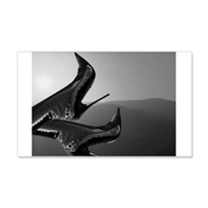 Sunset Boots (black and white) Wall Decal