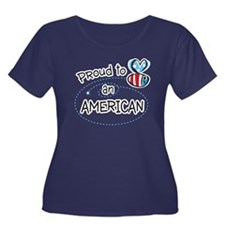 Proud to Bee an American Plus Size T-Shirt