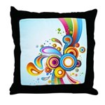 Retro Swirls n Twirls Throw Pillow