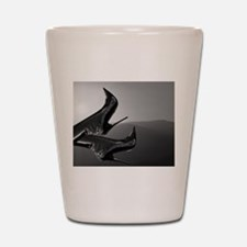 Sunset Boots (black and white) Shot Glass