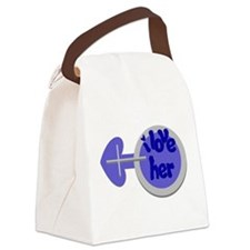 I love her -Couple shirt Canvas Lunch Bag