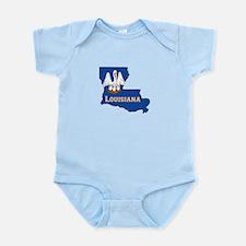 Louisiana Flag Infant Bodysuit