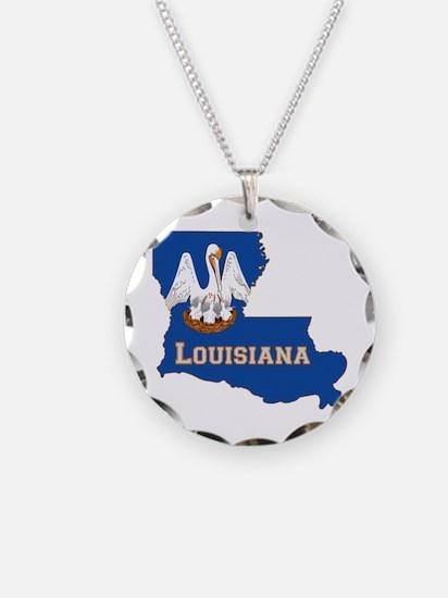 Louisiana Flag Necklace