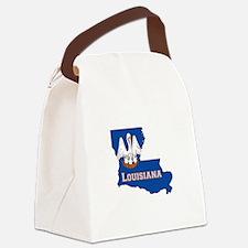 Louisiana Flag Canvas Lunch Bag