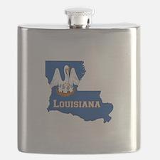 Louisiana Flag Flask
