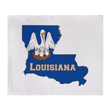 Louisiana Flag Throw Blanket
