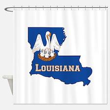 Louisiana Flag Shower Curtain