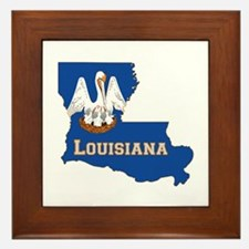 Louisiana Flag Framed Tile