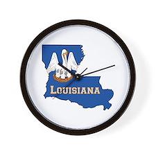 Louisiana Flag Wall Clock