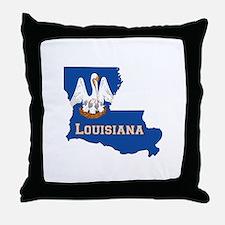 Louisiana Flag Throw Pillow