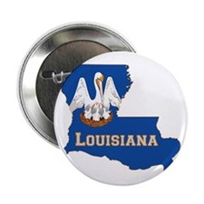 """Louisiana Flag 2.25"""" Button"""