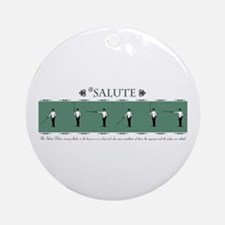 Fencing Salute Ornament (Round)