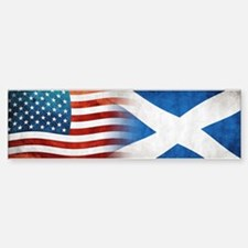 Scottish American Flags Bumper Bumper Bumper Sticker