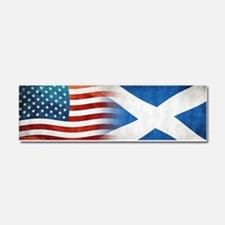 Scottish American Flags Car Magnet 10 x 3