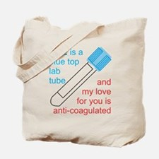 Blue Top Lab Tube Tote Bag
