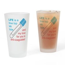 Blue Top Lab Tube Drinking Glass