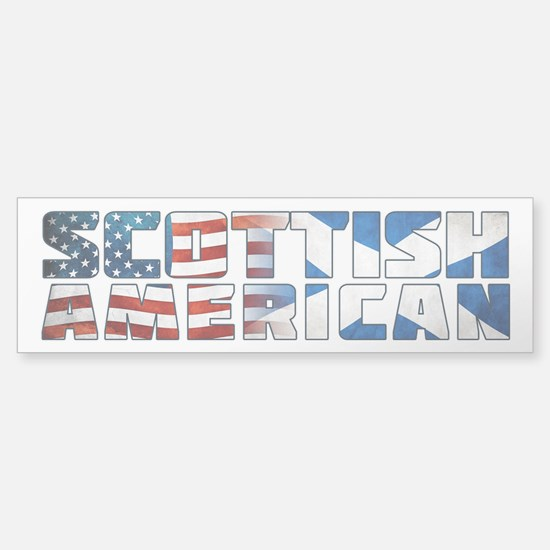 Scottish American Text Flags Bumper Bumper Bumper Sticker