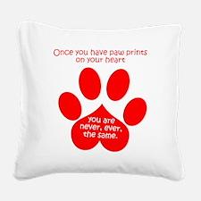 Paw Prints Square Canvas Pillow