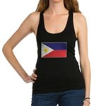 Philippine Flag Racerback Tank Top
