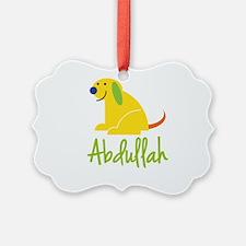 Abdullah Loves Puppies Ornament