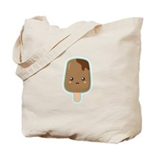 Kawaii and Sweet Chocolate Ice Cream Tote Bag