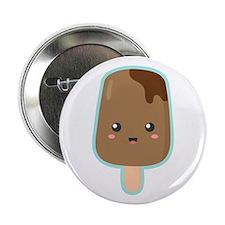 """Kawaii and Sweet Chocolate Ice Cream 2.25"""" Button"""