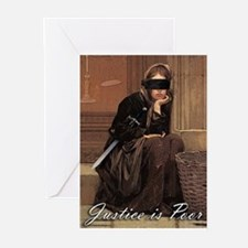 Justice is Poor Greeting Cards (Pk of 10)