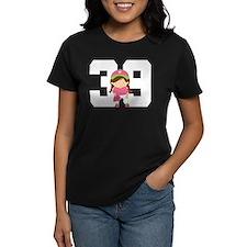 Softball Player Uniform Number 39 Tee