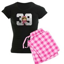 Softball Player Uniform Number 39 Pajamas