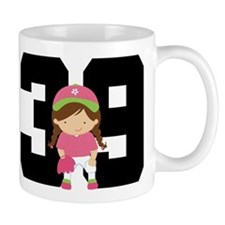 Softball Player Uniform Number 39 Mug