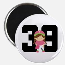 Softball Player Uniform Number 39 Magnet