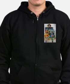 I Have A Monkey On My Back Zip Hoodie