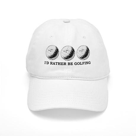 golfing Id rather be golfing Baseball Cap