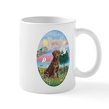 Cloud Angel-Choc. Labrador Mug