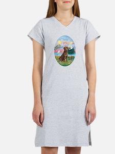 Cloud Angel-Choc. Labrador Women's Nightshirt