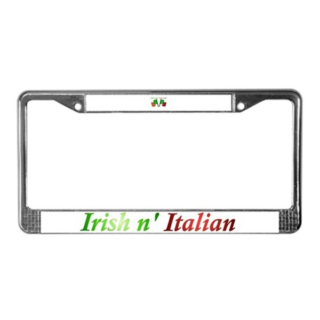 Half Gaelic Half Garlic License Plate Frame