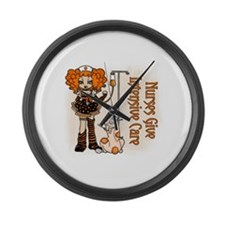 2~Nurses Give Intensive Care Large Wall Clock