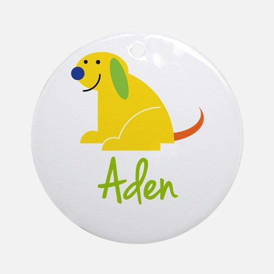 Aden Loves Puppies Ornament (Round)