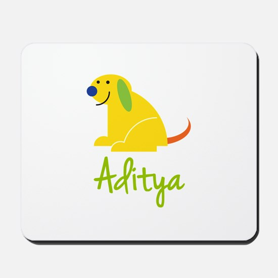 Aditya Loves Puppies Mousepad