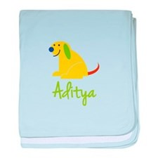 Aditya Loves Puppies baby blanket