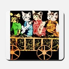 Wagon full of cats Mousepad