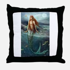 Mermaid of Coral Sea Throw Pillow