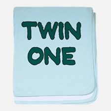 TWIN ONE TEAL baby blanket