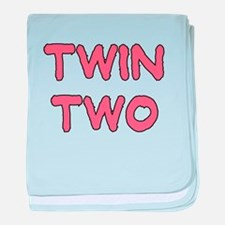 TWIN TWO PINK baby blanket