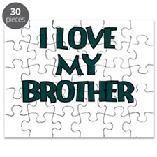 I LOVE MY BROTHER TEAL Puzzle