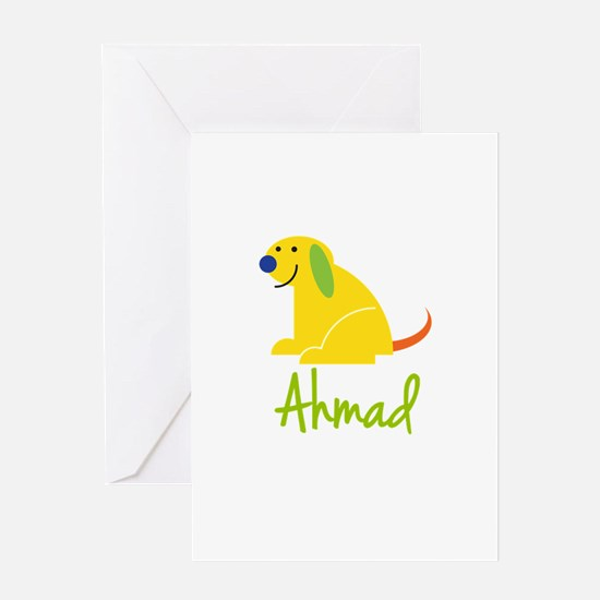 Ahmad Loves Puppies Greeting Card